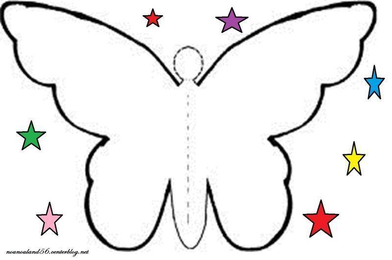 Activites la chenille et le papillon - Modele de papillon ...