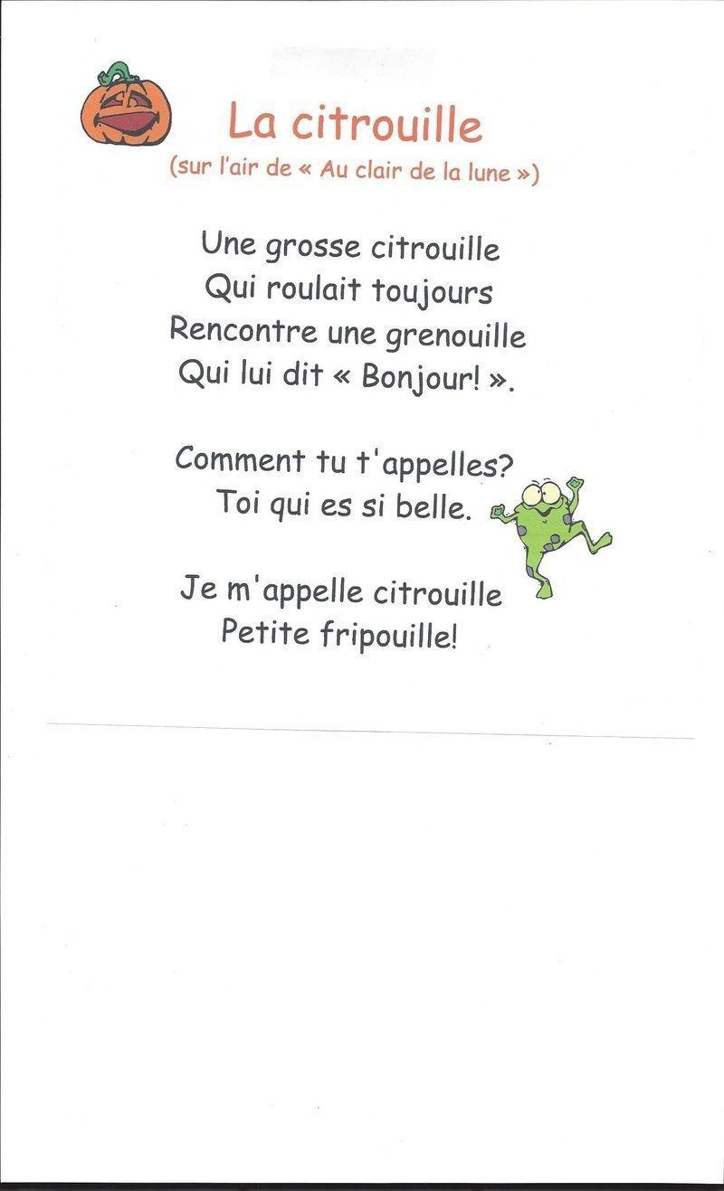 """Chanson""""la Citrouille"""""""