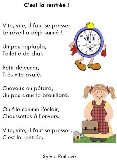 Activites poesie poeme - La rentree des mamans ...